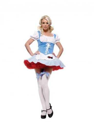Sexy Dorothy Girl Costume With Gingham Dress