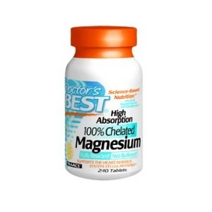 Doctor's Best High Absorption Chelated Magnesium with Bioperine (200 Mg Elemental), 240-Count