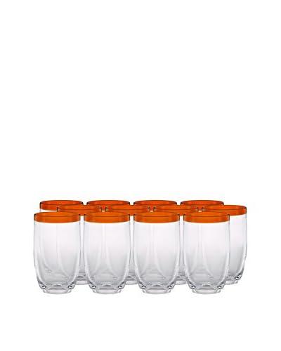 Artland Festival Set of 12 Highball Glasses, Tangerine