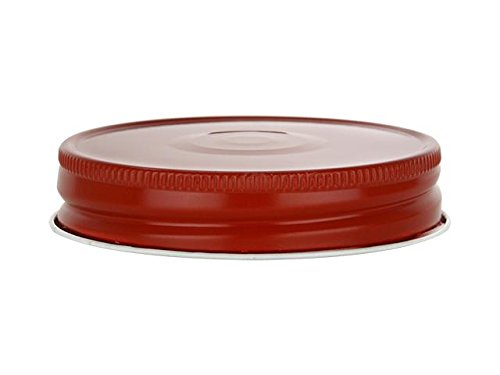 Nakpunar 12 pcs Red Mason Jar Lids