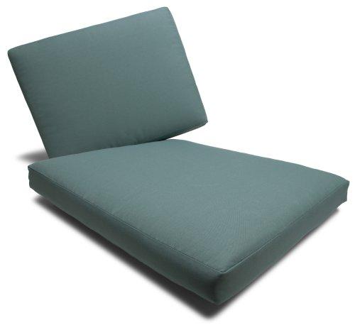 Strathwood Falkner 3-Seater Deep Lounge Sofa Olefin Cushions, Set of 6, Blue Haze