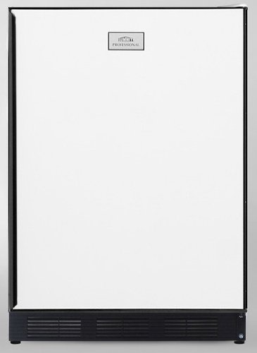 Summit Ct67Ada Ada Compliant Freestanding Refrigerator-Freezer In White With Black Door Frame For Custom Panels; Cycle Defrost Operation And Glass Shelves Included