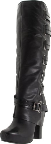 Jessica Simpson Women's Gilly Knee-High Boot,Black Skipper,8 M US