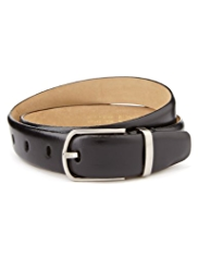 Autograph Leather Oval Buckle Belt