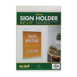 NUD38011 - Nu-dell Acrylic Sign Holder
