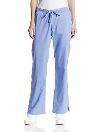 Cherokee Women's Petite Workwear Scrubs Core Stretch Jr. Fit Drawstring Pant, Ciel, 2X-Small-Petite