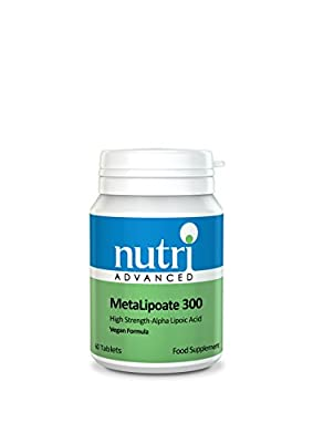 Alpha Lipoic Acid 300mg 60 Tablets by Nutri Advanced