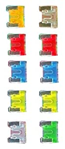 10-pc Automotive Micro Blade Fuse Pack