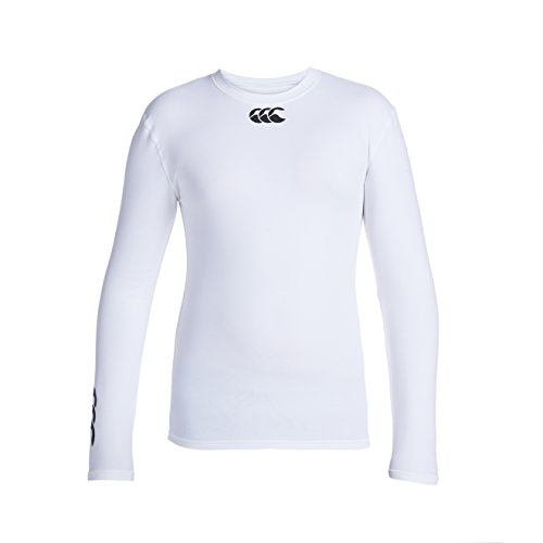 CANTERBURY Base Layer Manica Lunga Junior, Bianco, Junior L