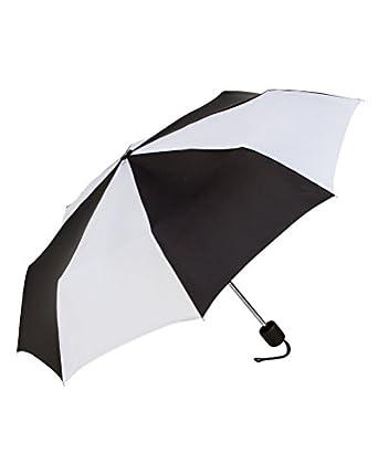 ShedRain Manual Compact Umbrella (One Size, Black/White)