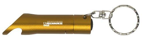 University Of Wisconsin-Milwaukee - Led Flashlight Bottle Opener Keychain - Gold