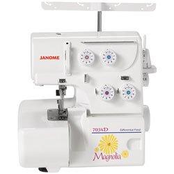 Janome Magnolia 7034D Serger Sewing Machine w/2-Piece (Color: magnolia)