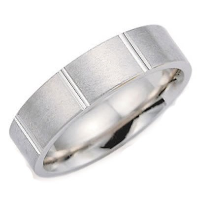 7.0 Millimeters Palladium 950 Wedding Band Ring with Brush Satin Finish, Comfort Fit Style SE24-226PD7, Finger Size 4¼