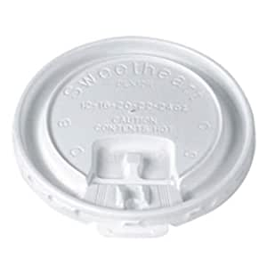 SOLO LX2SBR-00100 Translucent Polystyrene Trophy Lift and Lock Tab Lid With Straw Slot for Trophy Plus 12, 16, 20, 22, and 24-oz. Cups (Case of 2000)