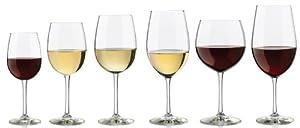 Libbey 6-Piece Vineyard Reserve Sampler Wine Glass Set, Clear