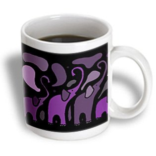 All Smiles Art Abstract - Awesome Purple Elephant Abstract Art Original - Mugs - 11Oz Mug - Mug_200506_1