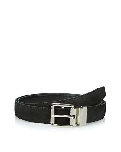 Isaac Mizrahi Men's Suede to Smooth Leather Reversible Belt