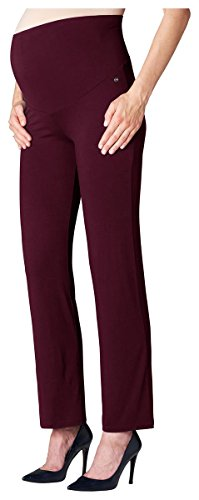ESPRIT Maternity Pants Utb Reg-Pantaloni maternità Donna    Burgundy Night W34
