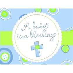 Blessed Baby Shower Boy Invitation - 8/Pkg. front-537373