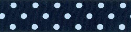 Offray Grosgrain Polka Dot Craft Ribbon, 1 1/2-Inch x 9-Feet, Navy
