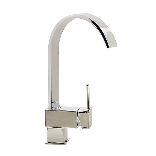 FREUER Organica Collection: Modern Kitchen / Wet Bar Sink Faucet, Polished Chrome