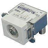 サン電子 入出力F形直列ユニット 中間用 1端子型 ハイパスフィルタ内蔵 10~2610MHz対応 全端子電流カット型 ホワイト CSF-7-7HPA(CW)