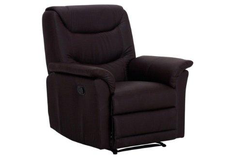 4-4-1496: einfacher Fernsehsessel - Ruhesessel - TV-Sessel - Relaxsessel - PU braun - manuell verstellbar