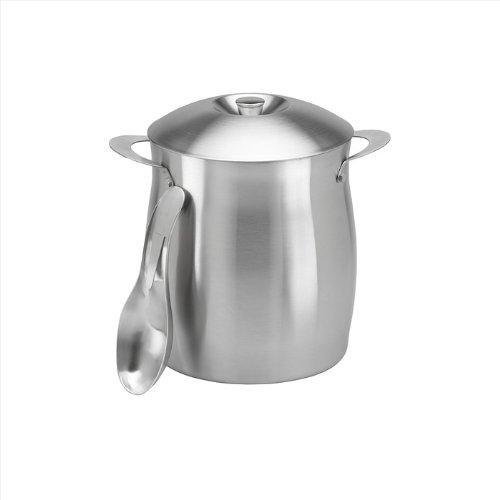 Kraftware Orbit Ice Bucket, Silver, 4-Qt.