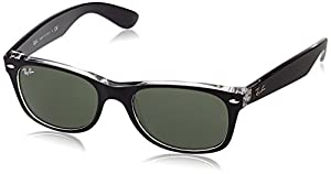 Ray-Ban RB2132 - 811/32 New Wayfarer Sunglasses,Black Frame/G-15-XLT Lens,55 mm