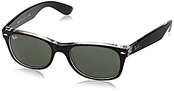 Ray-Ban RB2132 - 811/32 New Wayfarer Sunglasses,Black Frame/G-15-XLT Lens,52 mm