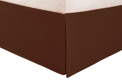 Impressions 1500 Series Wrinkle Resistant Pleated Queen Bed Skirt Solid, Mocha front-450647
