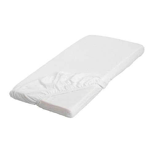 Details for Ikea LEN Fitted Sheet, White by ikea