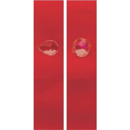 Creative Converting Glitz Red Napkin Bands with Jewel Attachment, 8 Bands Per Package