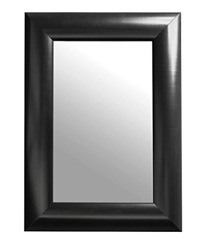 Black Rectangular Framed Wall Mirror, 14x18-Inch