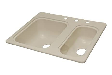 Generic Lyons Industries DKS02K-3.5 Designer Almond 25 7/8-Inch by 21 3/8-Inch Recreational Vehicle-Mobile Home Acrylic Hi-Low Kitchen Sink