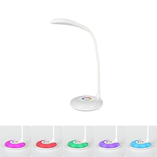 Living-Color-Schreibtisch-und-Nachttischlampe-Minkle-Dimmbare-Augenpflegende-Schwannenhals-LED-Schreibtischlampe-Kabellos-USB-Aufladung-3-Helligkeit-Wei