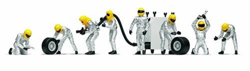 Scalextric C8292 1:32 Scale Pit Team Fuel Crew Silver Sport Building and Sport Track Accessory