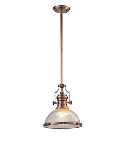 Artistic Lighting Chadwick Collection 1-Light Pendant, Antique Copper