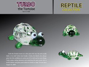 Looking Glass Limited Edition Torch Sculptures - Turbo the Tortoise