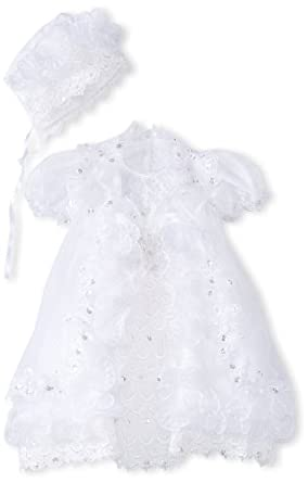 Pretty Me, USA Baby-Girls Infant Isabella Christening Dress, White, 24 Months/X-Large