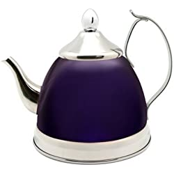 Creative Home Nobili Tea Stainless Steel Tea Kettle, Purple