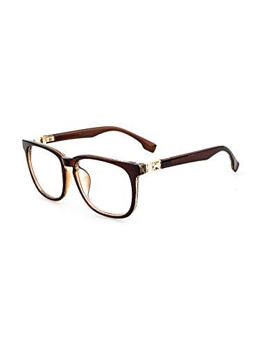YOYEAH Trend Multicolor Retro Glasses Brown