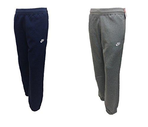 Nike-Pantaloni da jogging da uomo in pile tuta uomo Slim Fit in pile da uomo Navy/Grigio Taglie S M L XL 724302, Uomo donna, Nike Club Fleece Jog Pant, Navy, M