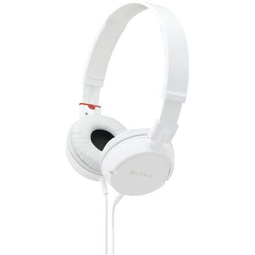 Sony MDR-ZX100 ZX Series Headphones (White)