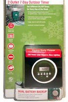 Westinghouse 2 Outlet 7 Day Outdoor Timer T26462 (Westinghouse Light Timer compare prices)