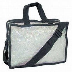 City Lights Carry-All Make Up Bag, Large, Clear
