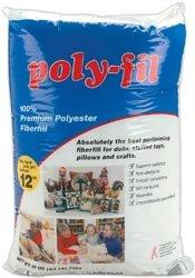 Fairfield Poly Fil Premium Polyester Fiberfill 12 Ounces FOB:MI PF12A; 12 Items/Order