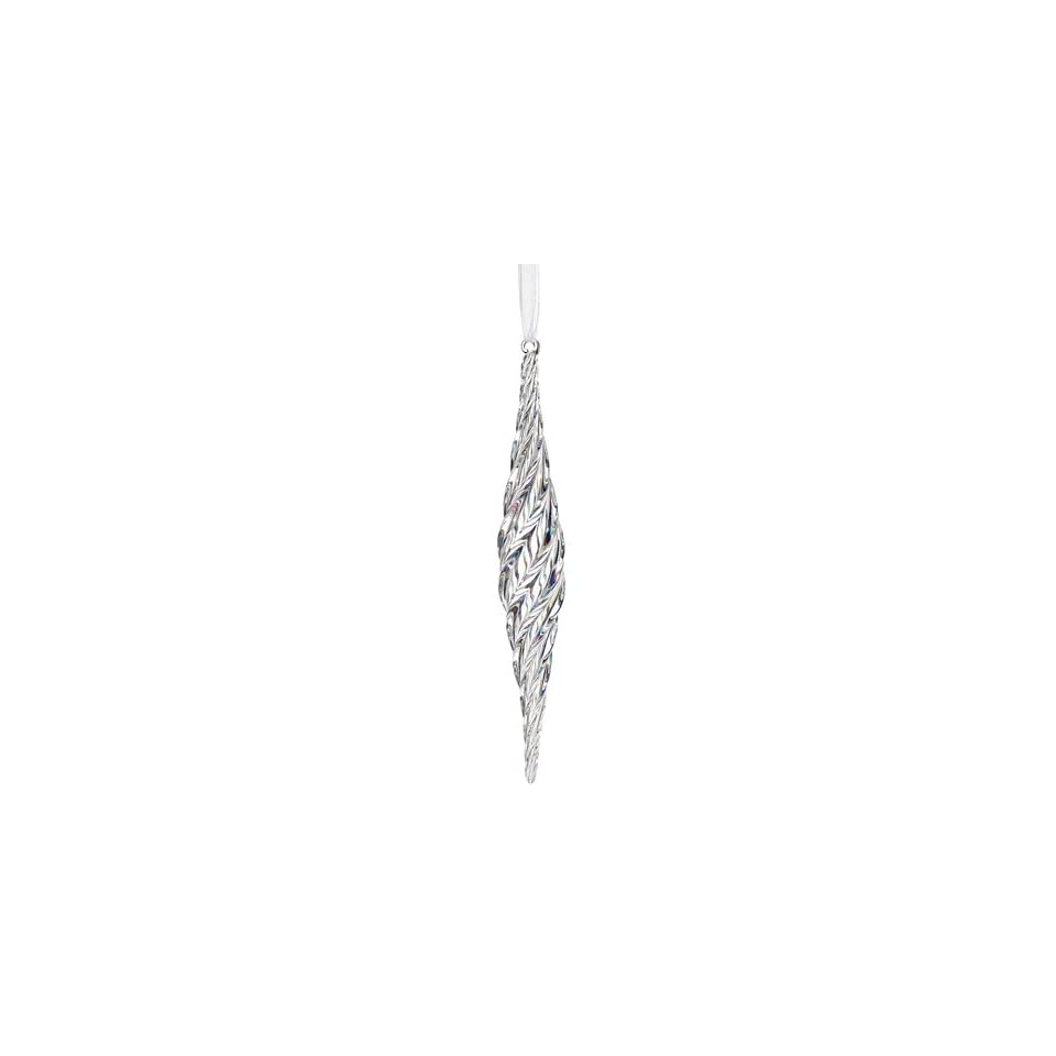 10 Glass Icicle Ornament Iridescent (Pack of 6)