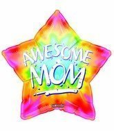 "Single Source Party Supplies - 18"" Awesome Mom Mother's Day Mylar Foil Balloon by Single Source Party Supplies"