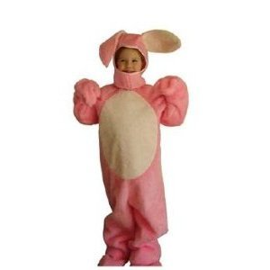 Pink Easter Bunny Suit with Open Face Child Costume Size 6-8
